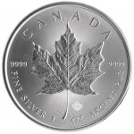 Buy gold, silver, platinum bars, coins - 2015 1 oz Silver Maple Leaf