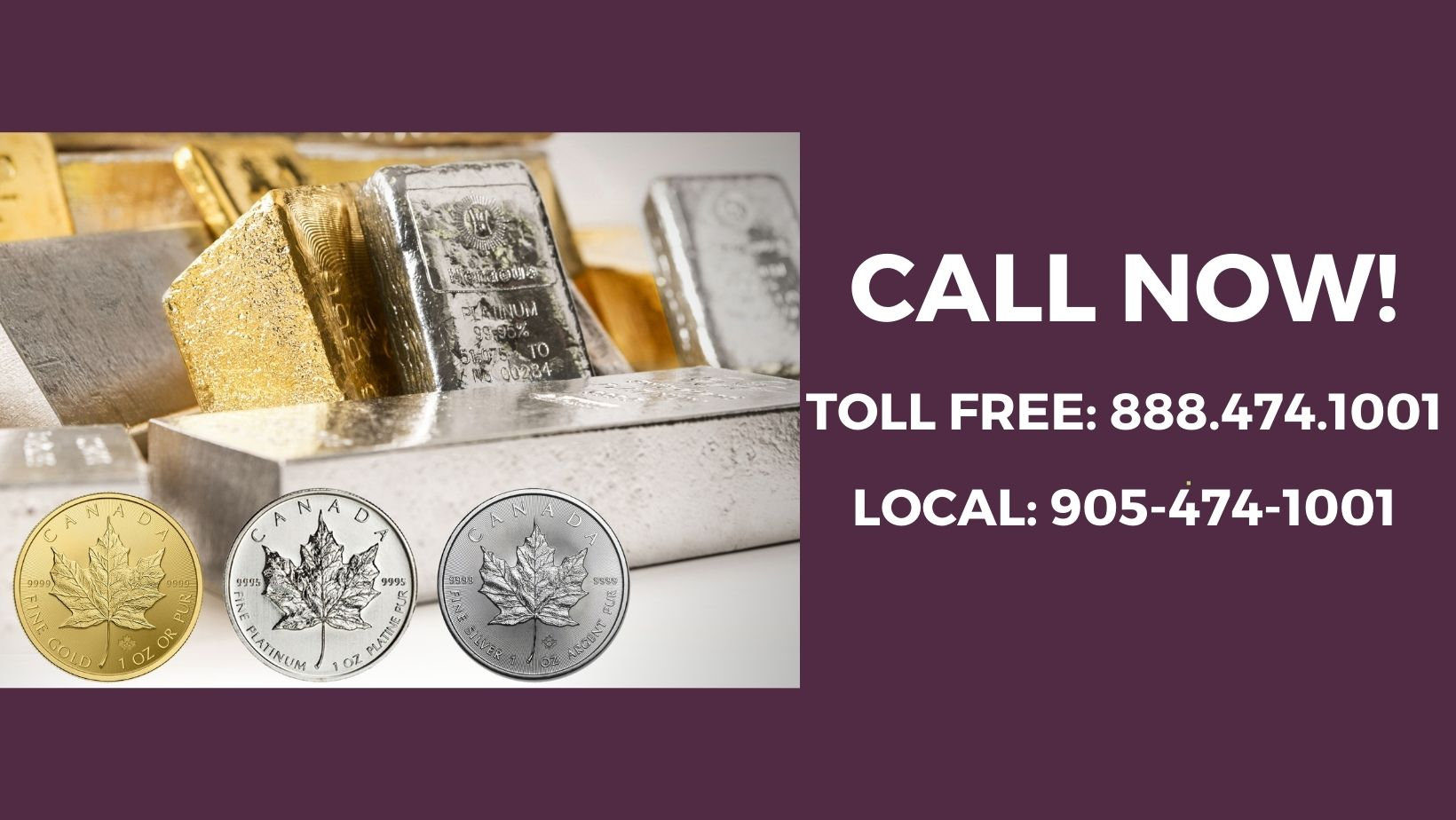 Call BMG Now to Learn How to Purchase Gold, Silver or Platinum Bullion Bars and Coins