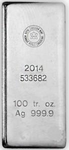 Silver in 100 oz bars   BMG Bullion Products